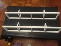 White Lerberg ikea metal cd/dvd racks