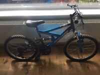 "Boys mountain bike. 20"" wheel. Suspension. 6 speed"