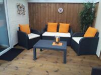 Rattan 4 piece garden furniture