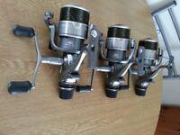 3x shimano xtea10000 super baitrunner + spare spools