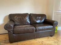 IKEA Brown Faux Leather Ektorp Two Seater Sofa