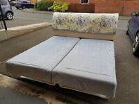 FREE TO COLLECT - 2-part Super Kingsize Bed / mattress with headboard