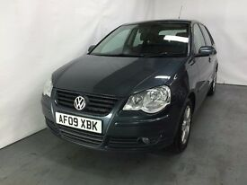 Volkswagen Polo 1.2 Petrol Match 2009 (09) model 5 door Hatchback LONG MOT