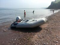 3.3m RIB SPEED BOAT WITH HONDA 10hp 4-STROKE ENGINE & ALLOY TRAILER