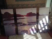 Next Sectional Sea View Canvas Print Large