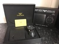 Armani watch gift sets with wallet
