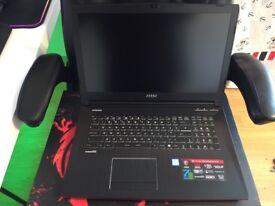 Msi gaming laptop Ge72 i7-7700hq gtx 1070