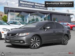 2013 HONDA CIVIC TOURING PKG - NAV|CAMERA|ROOF|PHONE|WARRANTY