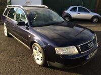 Audi A6 SE Estate 1.8T, 02/02 Reg, MOT 5th Sept 18, Service History, 5 Door Estate, Metallic Blue