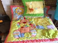 Baby floor Matt and cot bumper