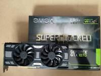 EVGA GTX 1070 8GB SC ACX 3.0 Black Edition NVIDIA GeForce Graphics Card