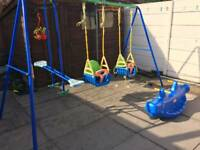 Double swing and glider set