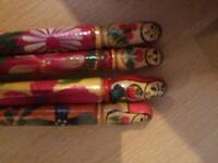 Russian Wooden Matryoshka Doll Pen