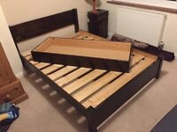 Solid Wood bed frame, mattress and under bed storage draw