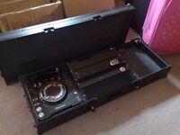 coffin case flight case for cd players stanton/ pioneer cdj dj disco
