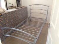 Single Lightweight Alluminium Bedframe in very good condition