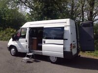 FORD TRANSIT 300 TD DAY CAMPER HI SPEC/COOKER/SINK/FULL LARGE ROCK&ROLL BED/ MAINS /LIKE MAZDA BONGO