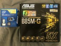 i5 4590 with Asus B85M-G Motherboard and 8gb DDR3 Ram