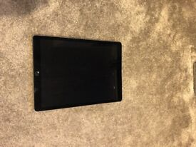 Apple IPad Pro for sale, black with space grey back. 12.9 inch screen, 265 GB