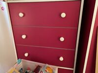 Pink chest of drawers
