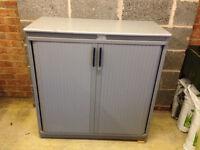 Tambour Grey Cabinet (100 x 105cm)