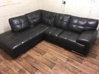 violino leather corner sofa (free delivery)