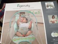 Ingenuity musical automatic baby bouncer in box like new