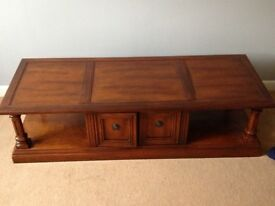 Solid wood widescreen TV cabinet