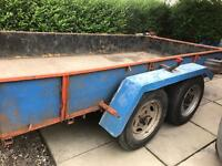 Large twin wheel trailer (requires TLC)