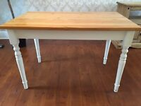 Shabby chic Dining table and free chairs
