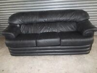 Black Leather 3-1-1 Suite (Sofa)