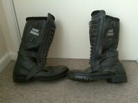 frank thomas leather boots,size 10
