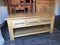 "Oak furniture land ""Rivermead"" coffee table"