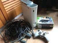 Xbox 360 console, wireless adapter + games