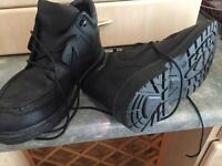Black real leather shoes size 8