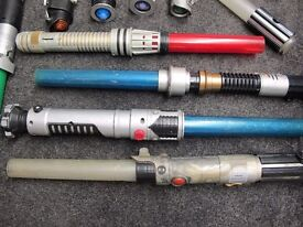 Collection of well used/worn Star Wars Light sabres £4 each