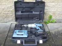 Erbauer R08W43 Lithium Ion 18V Cordless Combi Drill Driver with spare battery, charger & carry case