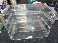 Transparent Acrylic Food Display Stand with Removable tray