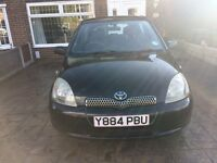 Toyota yaris black excellent condition mot march 2017