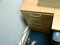 Pedestal to go with corner workstation units. Used but in very good condition. two units available