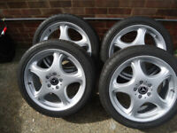 4x18 Genuine Mercedes Alloy Wheels and 245/40/18 Tyres Will Fit S/R class /VITO