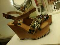 Size six wedges