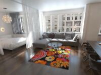 BRAND NEW large multi floral rug