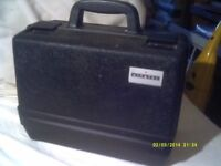 TOOLBOX ? IN BLACK PLASTIC , TOUGH CONSTRUCTION with CENTRAL GRAB HANDLE +++++