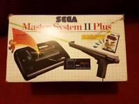 Boxed Sega master system 2 plus
