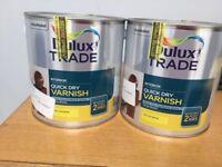 Dulux interior quick dry varnish 2.5l tin x 2