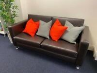 Faux Leather 2 Seater