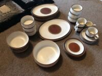 Denby dinner set stone brown
