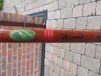 Vintage Collectors Auger Dictator Fishing Rod 15 foot Long 4 part