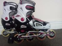 In very good condition skates for girls.Only £12. Don't fit me anymore Size L (40-43)